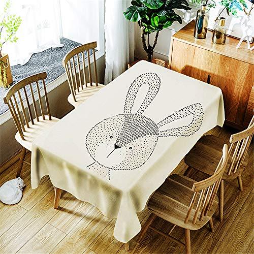 QWEASDZX Tischdecke Einfach und modern Stoff Polyester Digitaldruck Ölbeständig und wasserdicht Rechteckige Tischdecke Geeignet für den Innen- und Außenbereich 140x140cm - Kirsche Holz Rund Esstisch