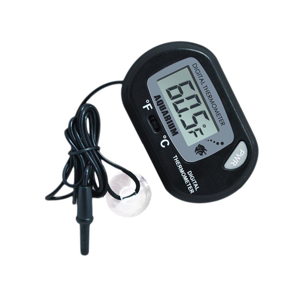 Demarkt Black Aquarium Digital Thermometer Fish Tank Water Marine Thermometer