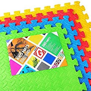 ***SALE*** Gallant Kids Play Mats EVA Interlocking Tiles 4 (16 Sq Ft) Indoor Outdoor Reversible Children's Playmats Eva Soft Floor Gym Mats With Edges***