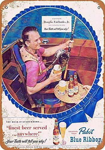 Blue Ribbon Blechschilder Aluminium Schilder Eisen Malerei Blech Plakat Warnung Plakette hängende Kunst Plakate Dekorative Cafe Bar