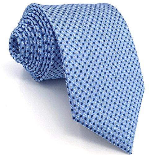 Shlax&Wing Herren Krawatte Blau Punkte Business Mehrfarbig Seide Geschäftsanzug For Männer Dünne