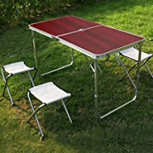 Mesa plegable camping con sillas - Amazon mesas de jardin ...
