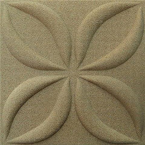 3D Quartz intérieur décoratif mur panels-3d boards-3d mural cladding-flower