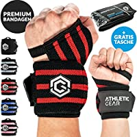 Athletic Gear INNOVATION Handgelenk Bandagen mit Handschlaufe - 2er Set (60 cm) Handbandagen für Krafttraining... preisvergleich bei billige-tabletten.eu