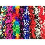 Federboa, bunt oder zweifarbig, aus 6 verschiedenen Farbvariationen wählbar, Länge ca. 1,80m, Ideal für Fasching, kuschelig, farbig