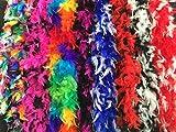 Federboa, bunt oder zweifarbig, aus 6 verschiedenen Farbvariationen wählbar, Länge ca. 1,80m, Ideal für Fasching, Karneval, Fastnacht oder Mottopartys (Schwarz-Weiß)