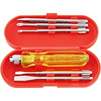 Spartan BS-01 5-Pieces Screwdriver Kit / Screwdriver Set For Home Use/ For Multipurpose Application (S-6, Multicolor)