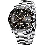 BENYAR Reloj cronógrafo para Hombre Movimiento de Cuarzo Fashion Business Sports Watch 30M Impermeable Elegante Regalo de los