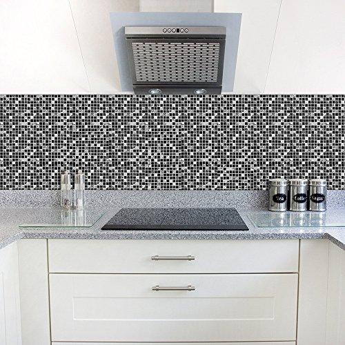 OIKAY Wandaufkleber selbstklebende Fliese Kunst Boden Wand Aufkleber Aufkleber DIY Küche Badezimmer Dekor Vinyl Hausgarten Küche Zubehör dekorative Aufkleber Wandbilder
