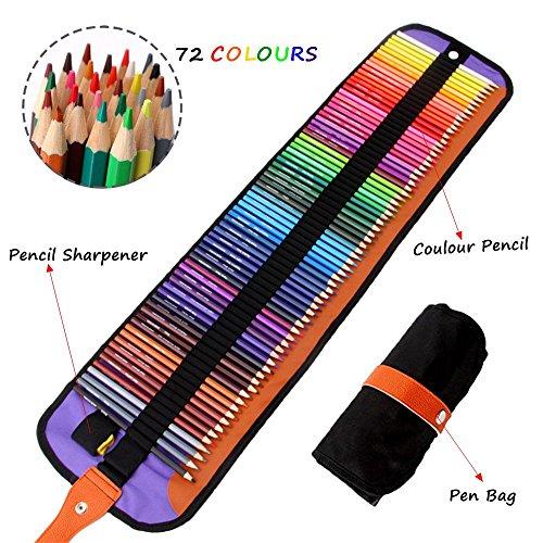 Meloive El Mejor Set De 72 Lápices De Colores Mejores Lápices Para Colorear Para Artistas Dibujantes Ilustradores Diseñadores De Interiores