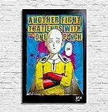 Saitama aus One Punch Man (One - Murata) - Original Gerahmt Fine Art Malerei, Pop-Art, Poster, Leinwand, Artwork, Film Plakat, Leinwanddruck, Anime, Manga