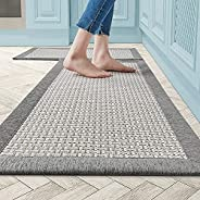 Twill Kitchen Mat Kitchen Rugs Set of 2 Kitchen Rugs and Mats Non Skid Washable Kitchen Floor Rugs for in Fron