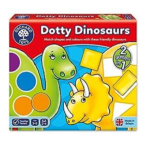 Orchard_Toys Dotty Dinosaurs - Juego educativo sobre formas y colores (importado de Reino Unido)