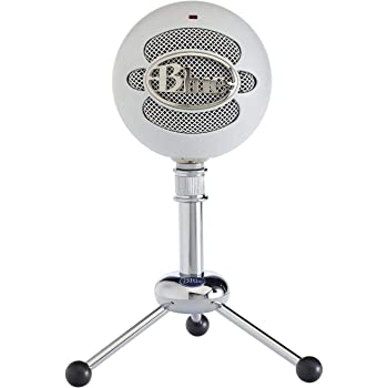Blue Microphones  Snowball Omnidirectional/Cardioid USB Microphone - White