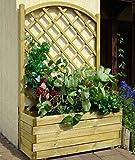 Blumenkasten mit Rankgitter Alata 2 rund - Abmessung: 90 x 40 x 140 cm (B x T x H)