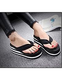 XIAMUO Sommer flip flops Frauen mit hohen 8 cm rutschfeste Plattform clip ziehen Sandalen und Hausschuhe tumbler...