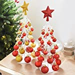 WANGAIMA Decorazione da tavolo, Mini albero di Natale, Albero di Natale di ferro, Props di finestra, decorazione di Natale Decorazione