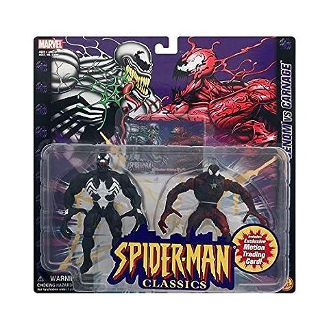 MARVEL SPIDER-MAN CLASSICS VENOM VS CARNAGE ACTION FIGURES by