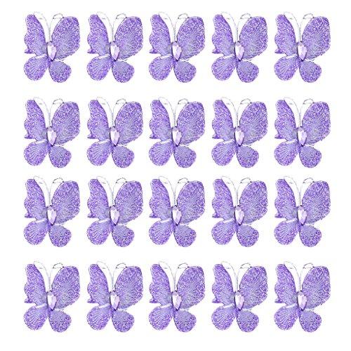 50St. Schmetterlinge Deko für Hochzeit- lila