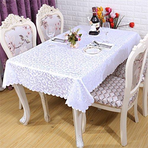 LHL-ZQ Hotel-Speisetisch-Tischdecke-Tuch europäisches Art-Gaststätte-Tabellen-Tuch lockiges Gras-Muster-quadratischer speisender Tabellen-Tabellen-Rock (Farbe : # 1, größe : 120 * 180cm)