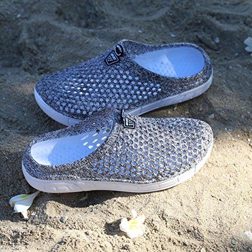 Kootk Donna Slippers Uomo Pantofole Spiaggia Scarpe Traspirante Scivolare su Sandali Adulto Pantofola Zoccoli A Passeggio Giardino Acqua Scarpe Grigio