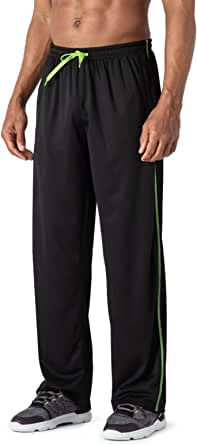 MAGCOMSEN Mens Tracksuit Bottoms Open Hem Lightweight Quick Dry Joggers Trousers Drawstring Lounge Pants Zip Pockets Sweatpants