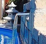 garten-wohnambiente Wasserfall Set 60 cm max. Fallhöhe 1 mtr. incl. LED-Beleuchtung aus Edelstahl poliert Wasserauslauf