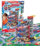 DETTALGROS- RS Toys Garage A Piani con Auto + Tappeto-Playset, 10234