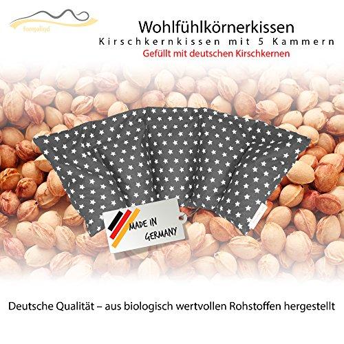Großes Kirschkernkissen/Entspannungskissen zur Wärmebehandlung - Heizkissen für Mikrowelle (Wärmekissen) // langes Relaxkissen // Zur Wärme- oder Kältetherapie/in 18 Farben! (grau)
