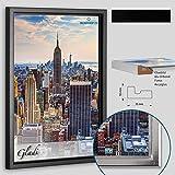 Schattenfugenrahmen Gladi5 zum Einrahmen von Acrylglas, Glas, Alu-Dibond, Forex Bildträgern Neu mit 0.5cm Schattenfuge Gladi5 35x45cm Schwarz (matt)