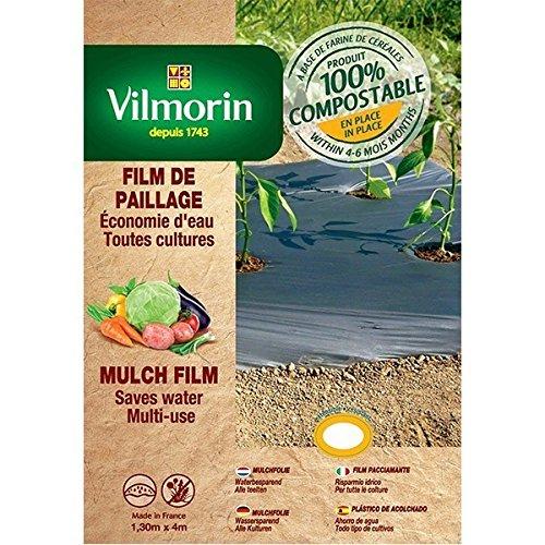 Vilmorin - Film de paillage toutes cultures faible épaisseur - farine de céréales - 1,30m x 8m 18µm