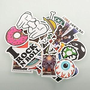 StillCool® Stickerbomb Mega Mix aus 100 Retro- und Sponsoren- Sticker / Aufkleber