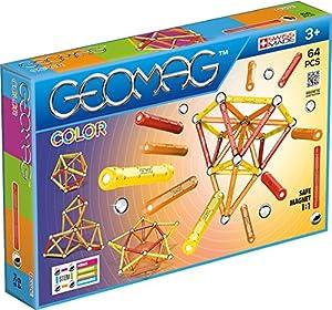 Geomag- Classic Color Construcciones magnéticas y Juegos educativos, Multicolor, 64 Piezas (262)