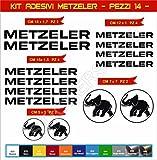 Aufkleber stickers METZELER -Motorrad- Cod. 0567