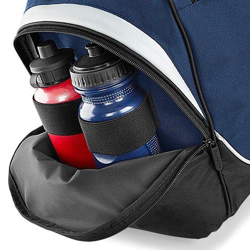 Sporttasche mit Schuhfach und Feuchtfach individualisierbar mit Namen und Wunschmotiv Fußballtasche Fitness Reittasche Schwimmtasche (royal) Rot