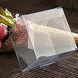 Imixcity PVC Kissen Koffer Aufbewahrung Geschenkbox Plastik Hochzeit Viereck Transparent 25PCS