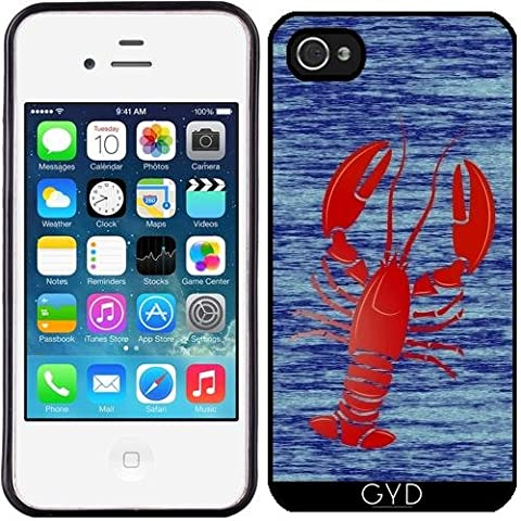 Custodia in silicone per Iphone 4/4S - Aragosta by (Lobster Personalizzato)