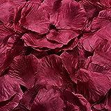 fablcrew boda pétalos de rosa de seda diseño del pétalos de flores para fiesta decoración de la mesa confeti 1000pcs 5x 5cm, seda sintética, Wine, 5 x 5 cm x 1000PCS