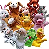 #9: Genmine Cute Animals Hand Puppets Funny Toys Zoo Friends Finger Puppets for Kids Plush Hand Puppets for Cartoon Hand Puppets Fun Express Preschool Kindergarten Toys
