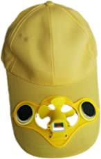 Green Horizons Solar Cap with Fan (Yellow)