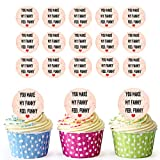 You make My Fanny Feel Funny Rude topper per cupcake/decorazioni per torte (confezione da 24) - Easy pretagliato cerchi