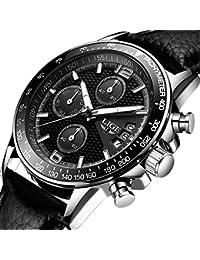 Reloje Hombre clásico Cuarzo de analógico Relojes Hombre Lujo lige La Marca Deportivos Acero Inoxidable Impermeable
