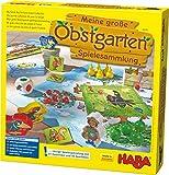 Haba 302282 - Meine große Obstgarten-Spielesammlung, original Obstgarten-Spiel und 9 weitere Spielideen in Einer Packung, Spielesammlung Klassiker, Kinderspiele ab 3 Jahren