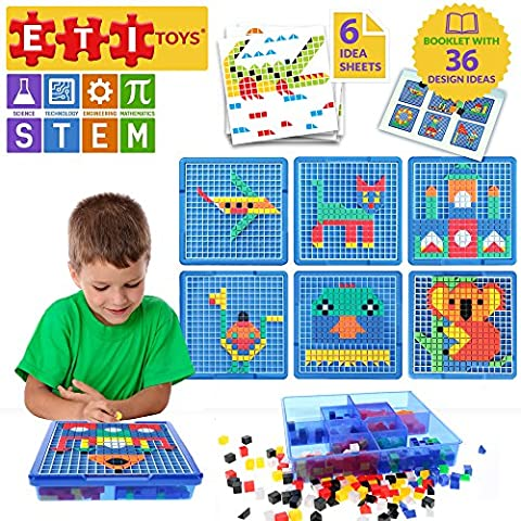 Educational Toys Engaging Jigsaw Puzzle By ETI Toys for Boys and Girls 490 Piece Set for Making Endless Puzzle Combinations! Great for Learning, Developing and Having Fun. Make Your Imagination