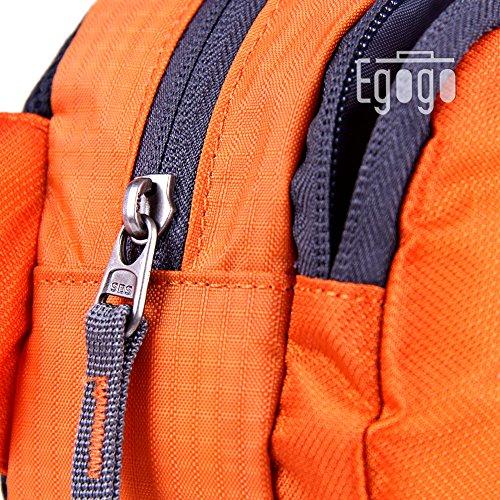 EGOGO viaggi sport pack fanny pack barbone marsupio escursionismo borsa con porta bottiglia d'acqua S2209 (Blu) Arancione