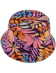 ZLYC Unisex Diseño de flores planta Impresión de selva Lienzo Cubo gorro para Fishmen Tapa