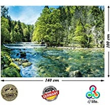 PMP 4life della parete di immagine Bach, Bach ad alta risoluzione di poster XXL, Natura Poster XXL, grande foto poster, 140x 100cm   alberi Paesaggio ruscello cascata  
