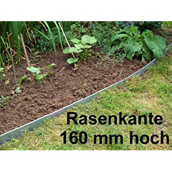 Rasenkante Edelstahl rasenkante aus edelstahl v2a 160 mm hoch beeteinfassung 1 stück