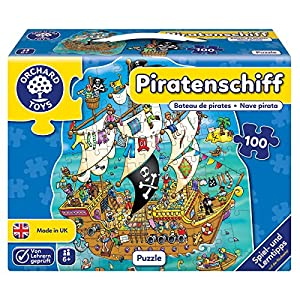 Orchard_Toys 10241-Puzzle, Barco Pirata, 100Piezas, 42x 51.5cm
