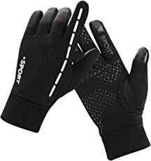 Kungber Touchscreen Handschuhe, Sport Outdoor Fahrradhandschuhe Radfahren Handschuhe Sporthandschuhe Winterhandschuhe, Wasserdicht und Winddicht für Damen Herren
